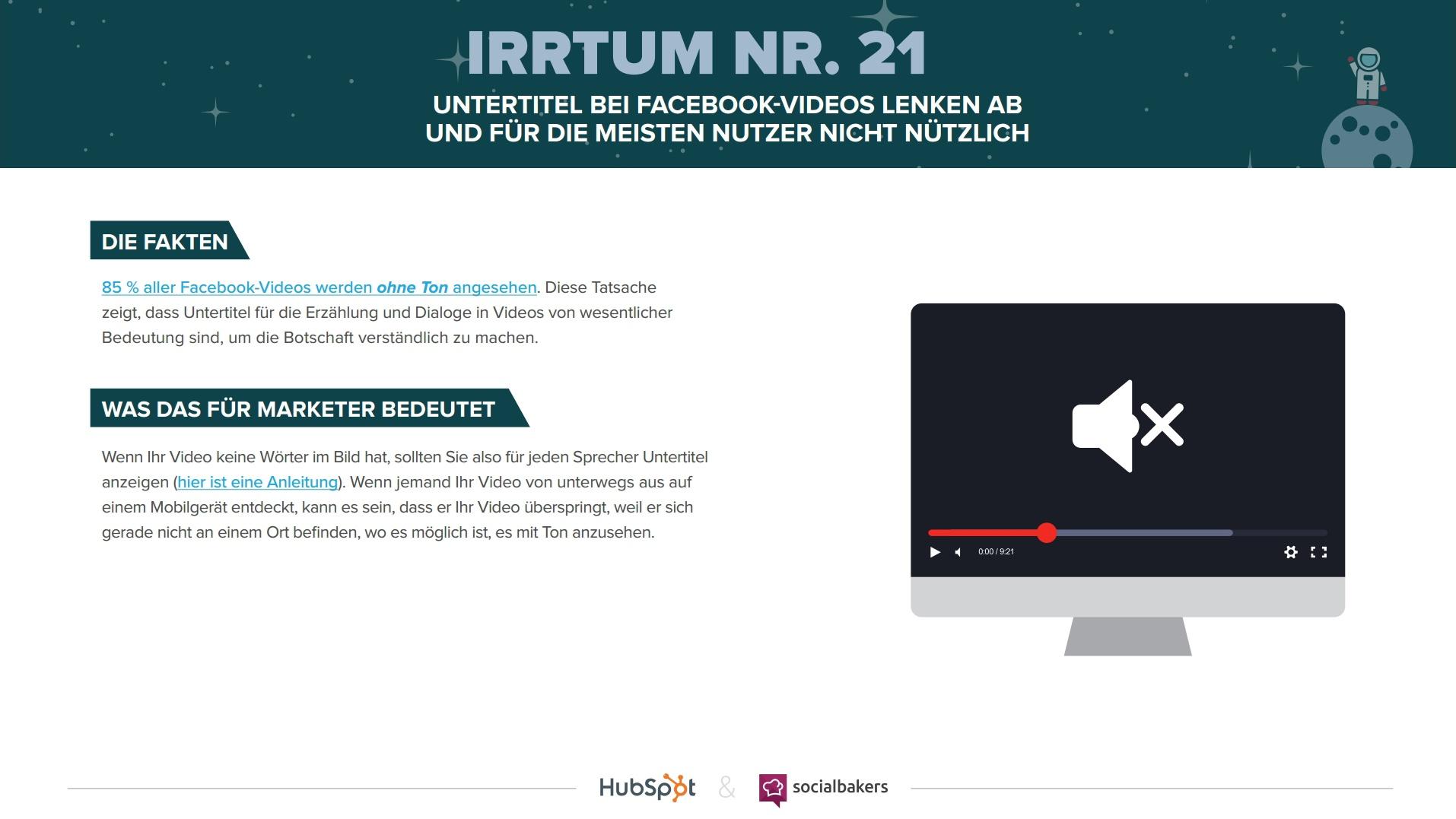 HubSpot & Socialbakers – 24 Irrtümer zum Marketing auf Facebook – Vorschau