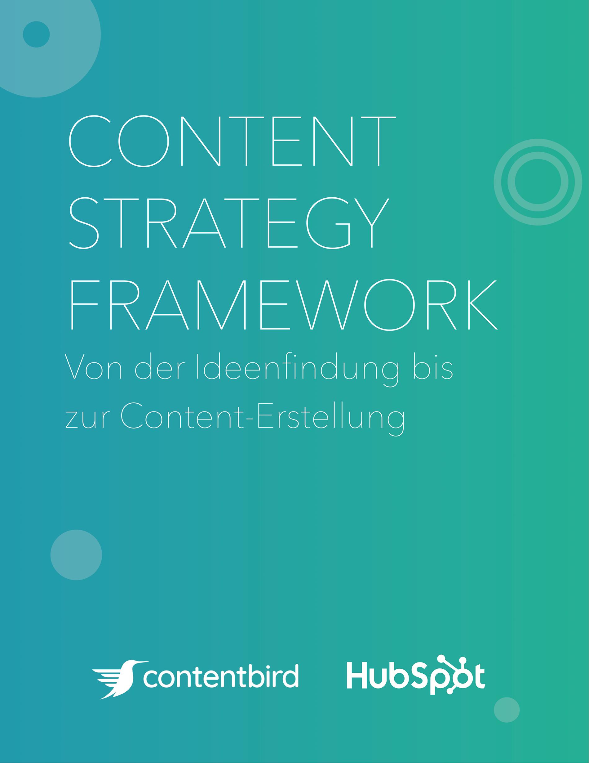 Content Strategy Framework Titelbild