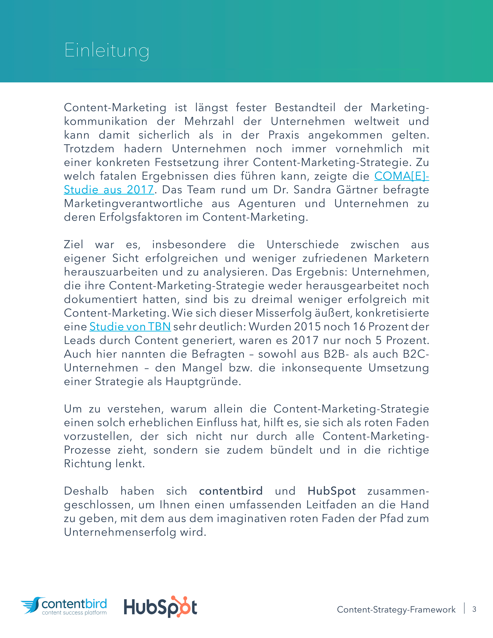 Content Strategy Framework Einleitung