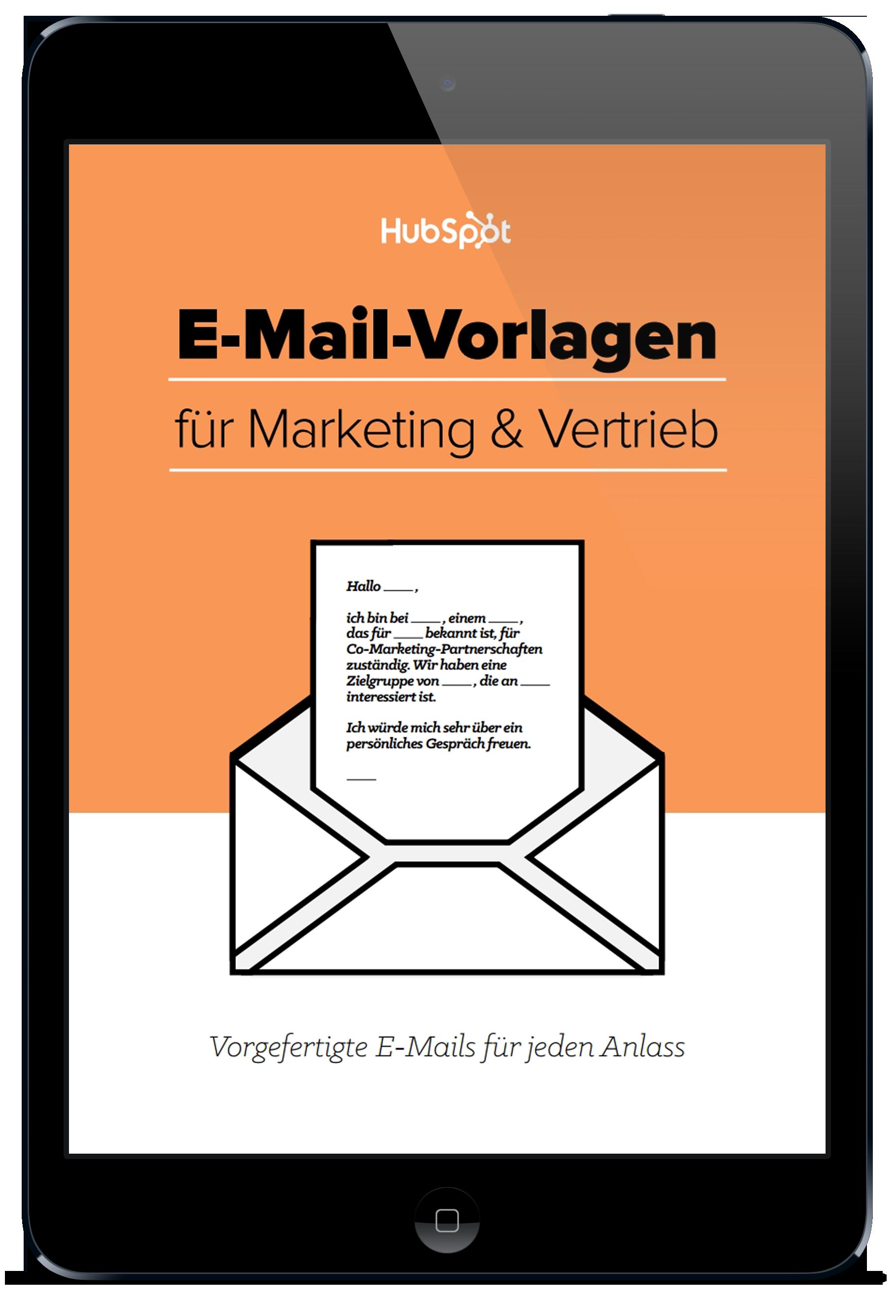 E-Mail-Vorlagen für Marketing und Vertrieb