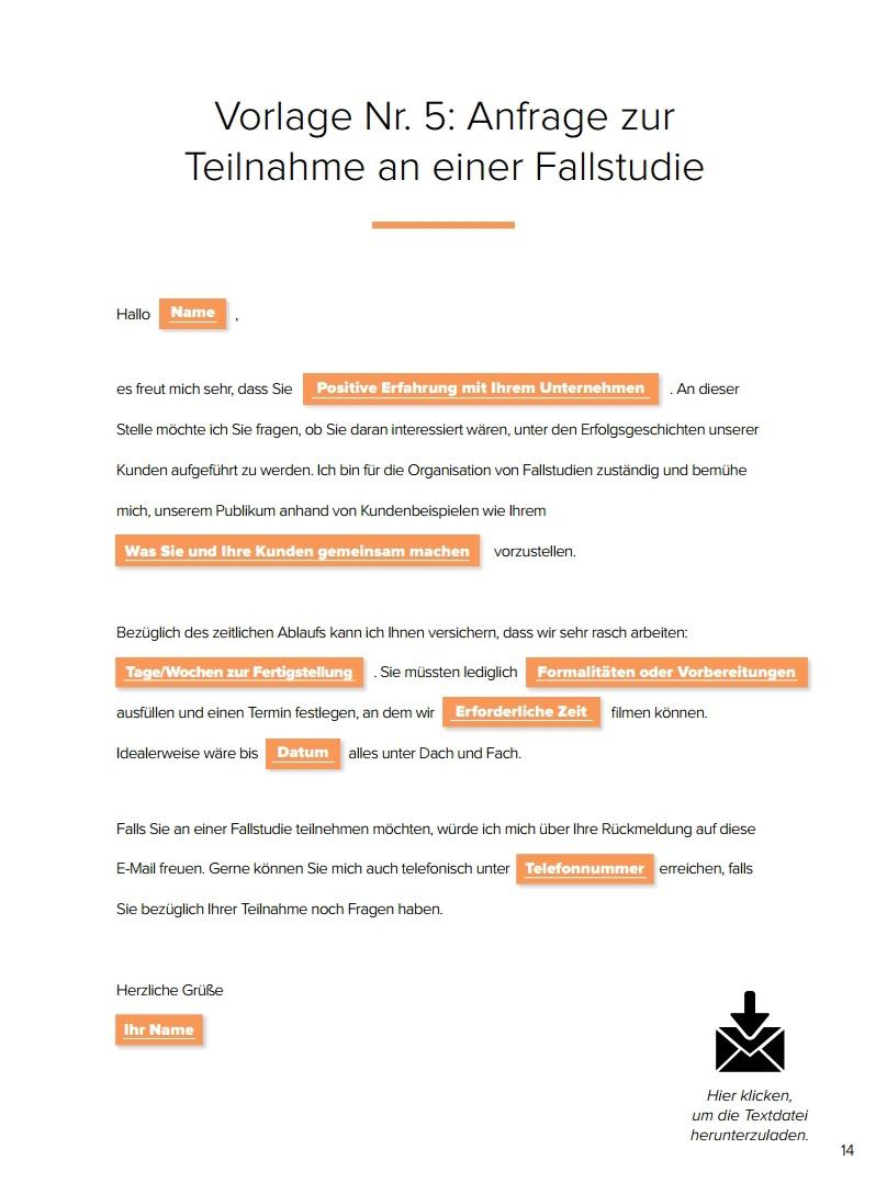 E-Mail-Vorlagen für Marketing & Vertrieb