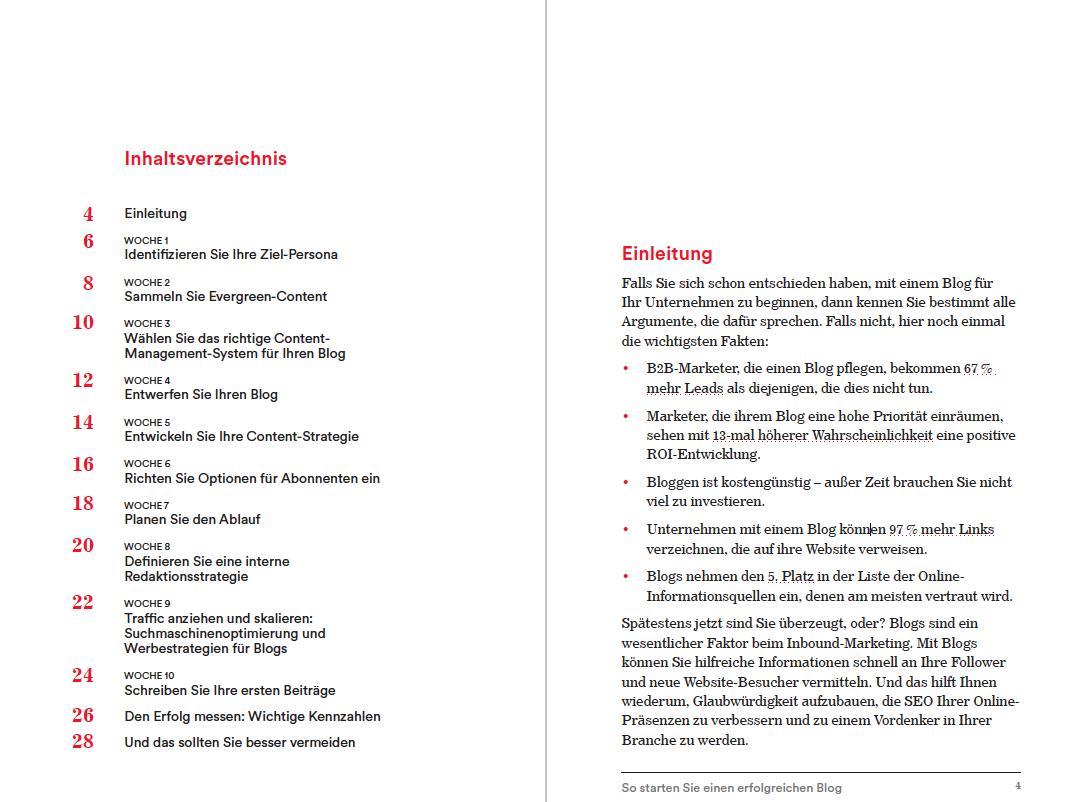 Inhaltsverzeichnis des E-Books