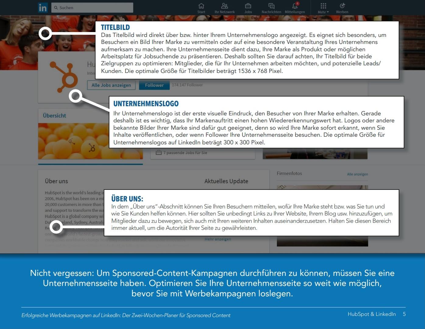 HubSpot – Werbekampagnen mit LinkedIn Ads – Beispiel 2