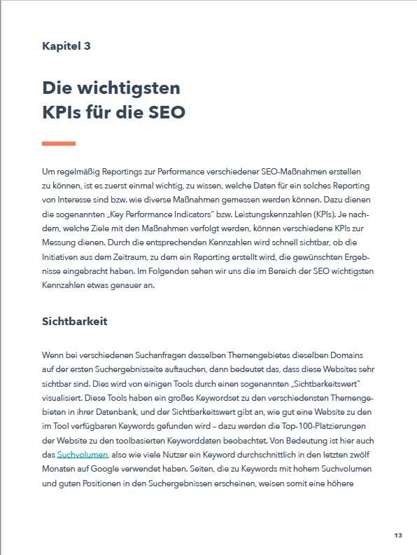 SEO-Reporting Ebook Vorschau 4