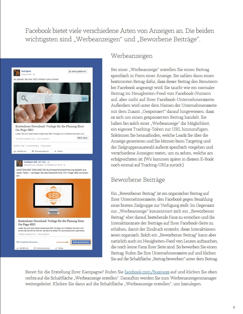 E-Book – Der ultimative Leitfaden für Social-Media-Werbung – Beispielseite 03