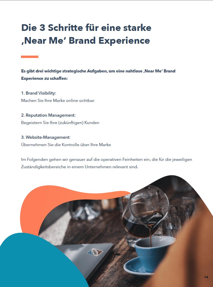 3 Schritte zur Near Me Brand Experience