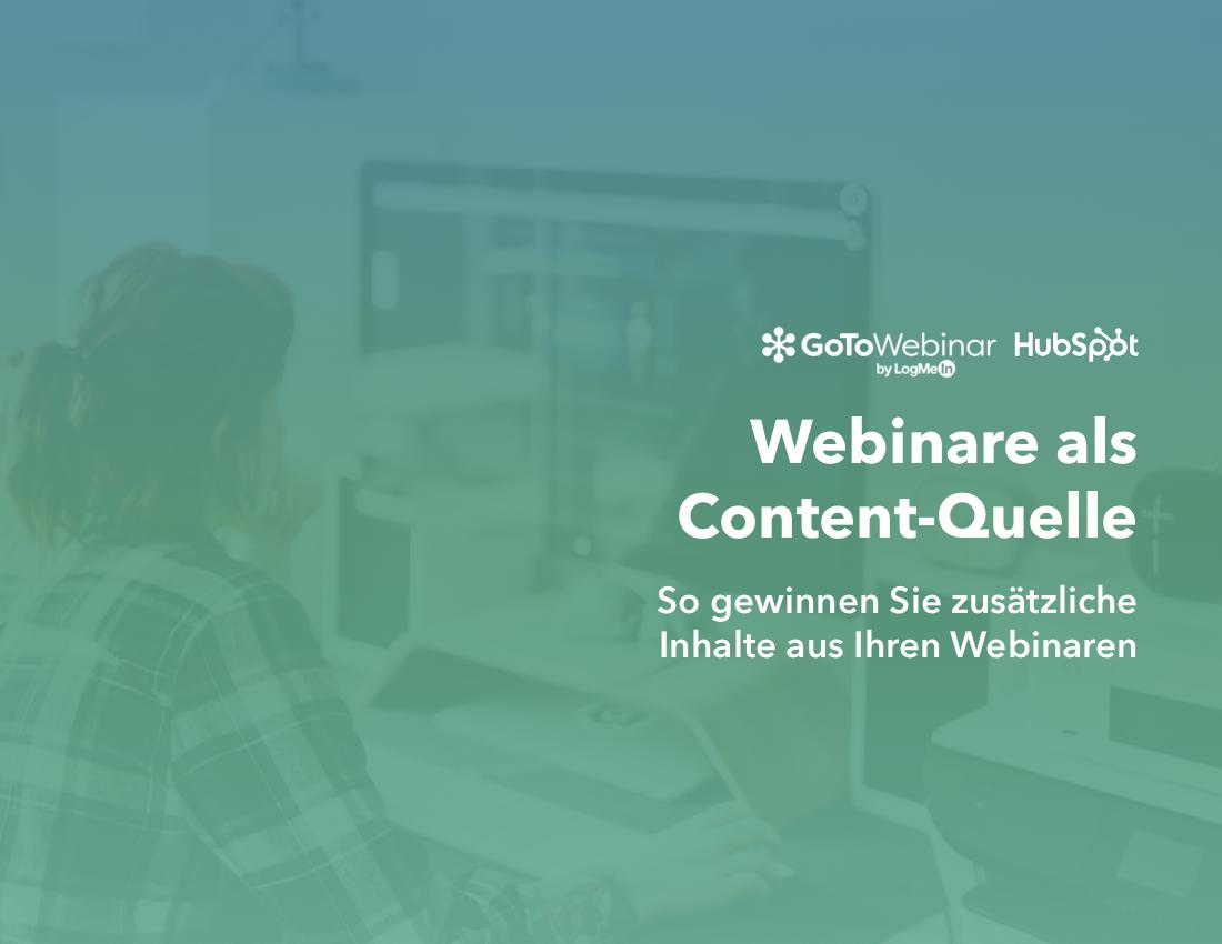 GoToWebinar & HubSpot | Webinare als Content-Quelle | Vorschaubild 1