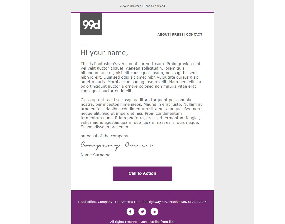 E-Mail-Vorlage Beispiel 3